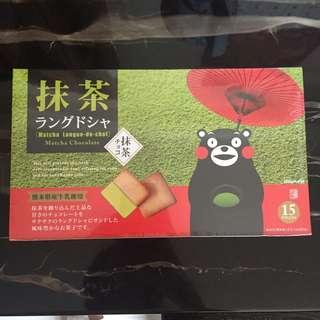 熊本熊抹茶餅乾15塊入日本零食