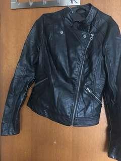 Dotti Black pleather jacket size 6