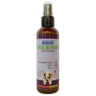 Tick Buster (Fipronil) Spray Treatment on Ticks and Fleas for Dogs and Cats