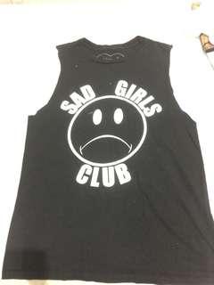 Nikki Lipstik sad girls club cut off tank