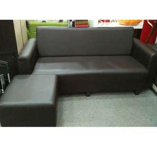 L-SHAPE SOFA 3 SEATER PVC