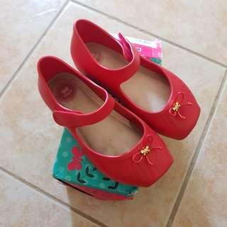 Zaxy Sandals S9 Red Ultragirl ootd shoes Size 9 not Mini Melissa Minimel