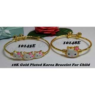 18K Gold Plated Korea Bracelet For Child