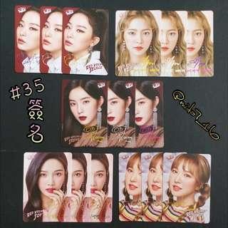 35期 ( Red Velvet ) Yes!簽名卡 ( 1SET )