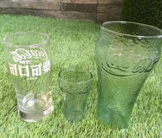 Coca Cola 3 glasses