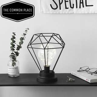 INSTOCK Nordic Black Geometric Vintage LED Table Light Lamp