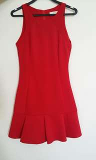 Red fitting dress