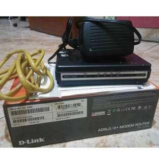 Modem Router : D-LINK ADSL2/2+