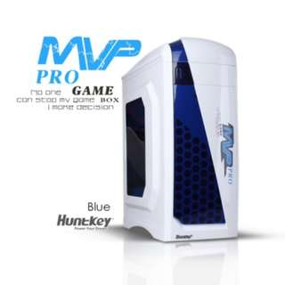 Huntkey MVP Pro Gaming computer chassis Blue No PSU Included Gaming NEW