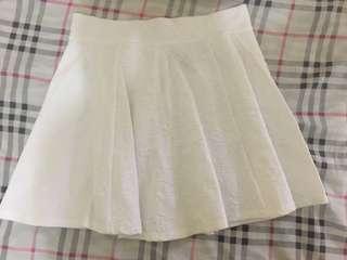 Divided  White floral skater skirt