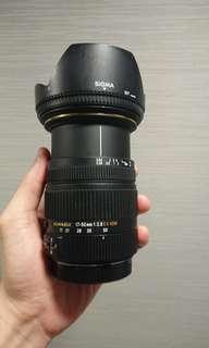Sigma 17-50mm f2.8 (Canon mount(