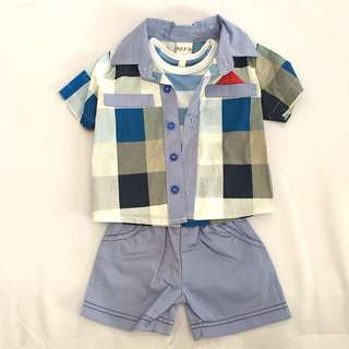 Baby Boy 2PCS Cute Formal Set SB 014