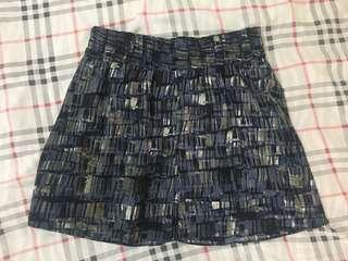 Converse printed skirt