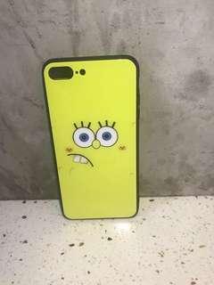 海綿寶寶 iPhone 7p/8p 玻璃硬殼