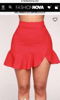 Fashion nova Rebecca ruffle skirt