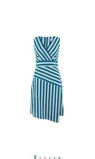 Closet UK 🇬🇧 Blue striped dress - brand new