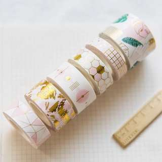 [Ready Stock & Pre-order] Gold Foil Washi Tape