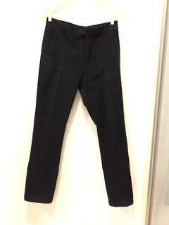 H&M men's washed effect navy blue trousers