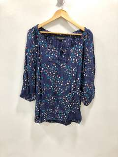 Dorothy Perkins Swallow Blouse - Preloved, Excellent Condition