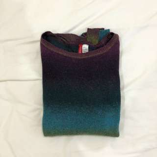 H&M Knitted Ombre Top