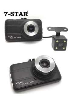 "7-STAR* Black Diamond Latest 3""inch Screen Mini Dual-Lens Front & Back Car Camera Blackbox Recorder DVR Dashcam (FHD 1080P Dual-Lens/G-Sensor/Motion Detection/Parking Monitoring/WDR Night Vision/Loop Recording Auto Overwrite)"