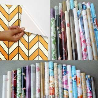 Pvc wallpaper water proof self adhesive 10mx45cm