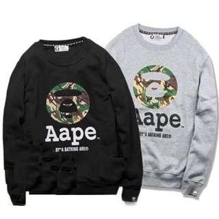 Authentic Aape Sweatshirt (Grey/Black)