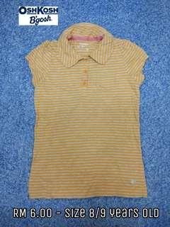 8/9 years old - Kids Cloth Shirt Dress Baby Girl Boy
