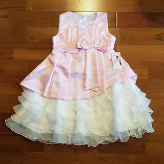 Dress ruffle softpink