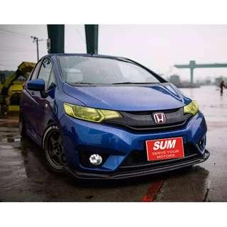 2014年 藍 本田FIT 跑3萬 預售價3X萬 全車系0頭款!! 讓你不用現金把車開回家