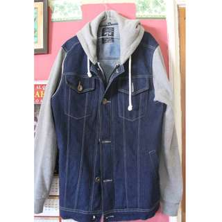 JAKET TRUCKER DENIM + HOODIE BY BLOOPENDORSE
