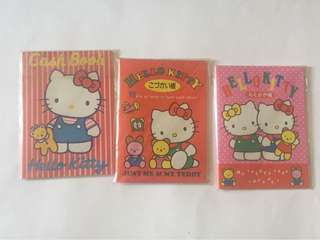 Sanrio vintage Hello Kitty pocket diary cashbook 1989 1990