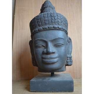 Champa Head. VN02 ; Size:18,5x18,5x38cm (LxWxH). 9.2Kgs