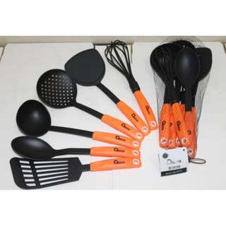 Oxone OX-953 Sendok Sayur Spatula Set Nylon Kitchen Tools Murah