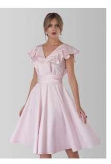Closet London Frill Pale Pink Dress brand new