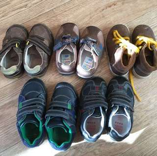 USED Clarks kids leather shoes & size guide (from RM50-70)