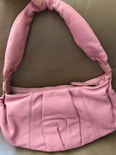 Vintage Pink Leather Lancel Bag in mint condition