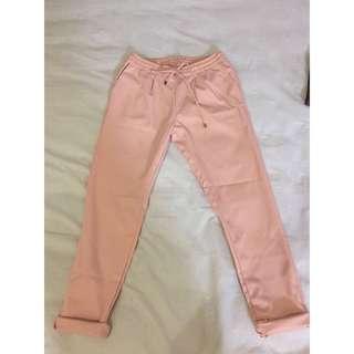 Ankle pants peach
