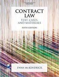 Contract Law - Text, Cases and Materials