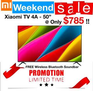Tv xiaomi 50inches Smart Android TV 1 year warranty  43/49/55