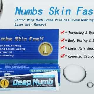 Numbs Skin Fast