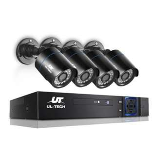 CCTV Security Camera 1080P HDMI 4 Channel DVR Home Outdoor WiFi IP System Support P2P  Technology
