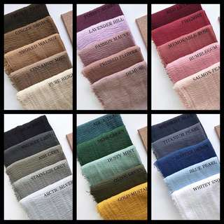 40 Colours Maxi Fringed Cotton Hijab