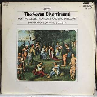 Haydn The Seven Divertimenti directed by Jack Brymer DECCA 15078
