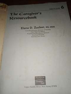 The Caregiver's book by elena zucker