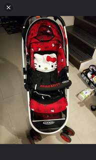 Graco hello kitty雙向推車