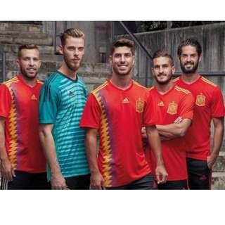 【吉米.tw】ADIDAS 2018世足賽 世界盃 足球衣 愛迪達 西班牙隊 紅色 紅黃色 主場 CX5355 MAY