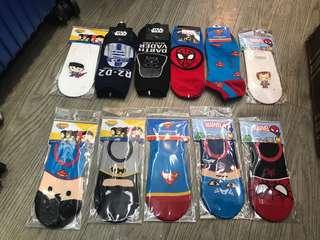 全新韓國直送迪士尼卡通襪 Socks $100/8對 $50/3對 $20/對