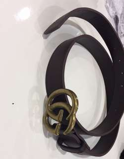 Replica brown gucci belt