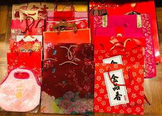 Assortment of festive bags